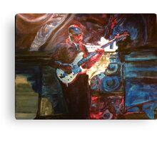 Blues Guitarist Canvas Print