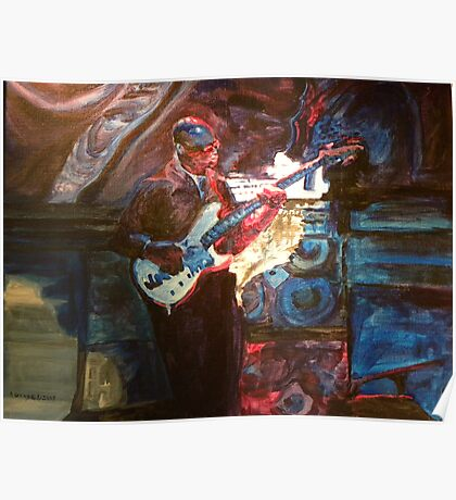 Blues Guitarist Poster