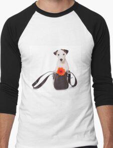 Jack Russell Terrier and a bag Men's Baseball ¾ T-Shirt