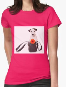 Jack Russell Terrier and a bag Womens Fitted T-Shirt