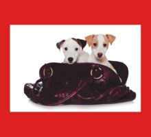 Two Jack Russell terrier puppy in a bag One Piece - Short Sleeve