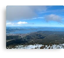 Hobart from Mt Wellington. Canvas Print