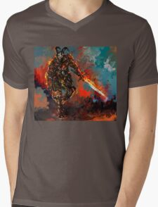 man of iron Mens V-Neck T-Shirt