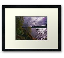 Here Comes Nessie Framed Print