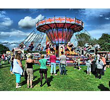 The Roundabout at Hawkesbury Upton Fair and Horticultural Show.   Photographic Print