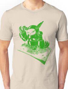 Giant Robot Cat Green Unisex T-Shirt
