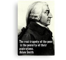 Adam Smith Canvas Print