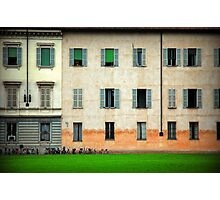 House and bicycles Photographic Print