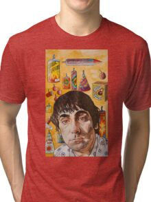 Keith Moon : light blue touch paper.. Tri-blend T-Shirt