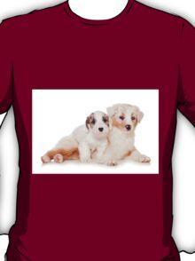Two Australian Shepherd puppy T-Shirt