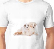 Two Australian Shepherd puppy Unisex T-Shirt