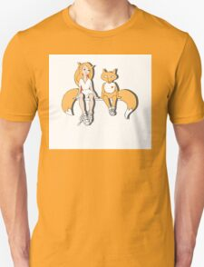 Foxes in love. T-Shirt