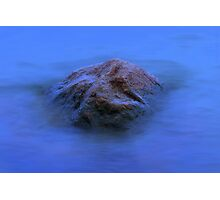 Stone in dreamy water Photographic Print