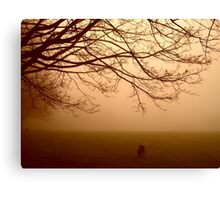 Walking in the Mist Canvas Print