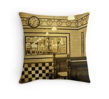 Pie & Mash Shop - Interior Throw Pillow