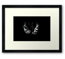 reaching out from the darkness Framed Print