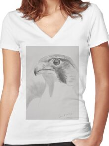peregrine study Women's Fitted V-Neck T-Shirt