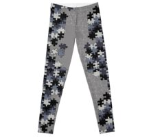 Jigsaw puzzle pieces Leggings