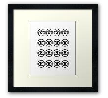 Camera icons Framed Print