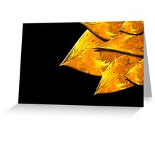 Flame Leaves on Black Greeting Card