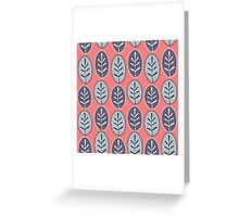 Color Floral Pattern  Greeting Card