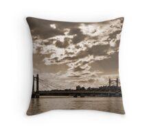 Chelsea Bridge, London - square crop Throw Pillow
