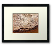 The Hidden Land - Crossing the Magma Stream Framed Print
