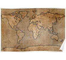 Ancient World Map Poster