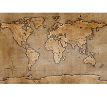 Ancient World Map Photographic Print