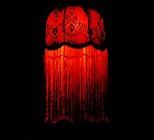 Red Lampshade by Kerry  Youde