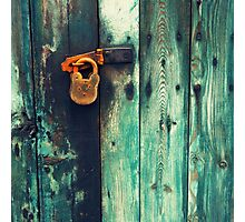 Rusty padlock Photographic Print