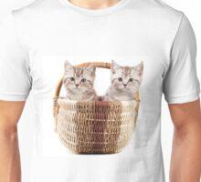 Two fluffy kitten in a basket Unisex T-Shirt