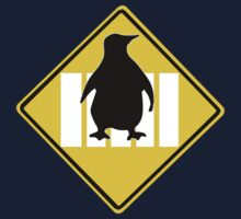 LINUX TUX PENGUIN CROSSING ROAD SIGN Kids Clothes
