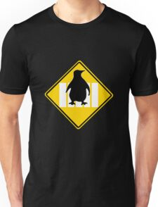 LINUX TUX PENGUIN CROSSING ROAD SIGN Unisex T-Shirt