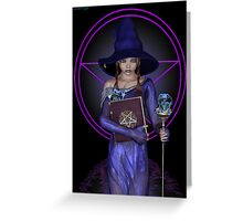 Elvira .. black witch Greeting Card