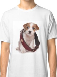 Jack Russell Terrier puppy and a large collar Classic T-Shirt