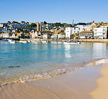 Harbour Beach St Ives by ianwoolcock