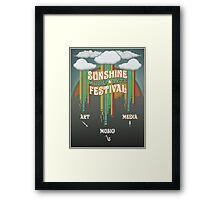 Sunshine Music Festival Poster Framed Print