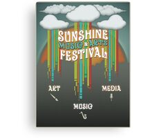 Sunshine Music Festival Poster Canvas Print