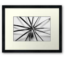 Hand Whisk Macro Framed Print