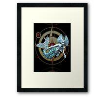 Alien Waters .. a mermaid in space Framed Print