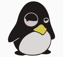 LAZY LINUX TUX PENGUIN One Piece - Short Sleeve