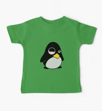 LAZY LINUX TUX PENGUIN Baby Tee