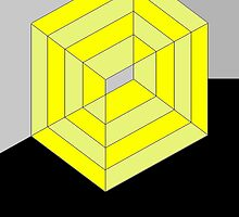 Yellow Cube by vanStaffs