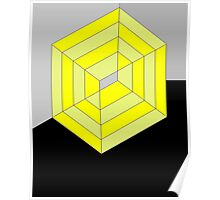 Yellow Cube Poster