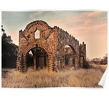 Abandoned Gas Station in Glen Rose, Texas Poster
