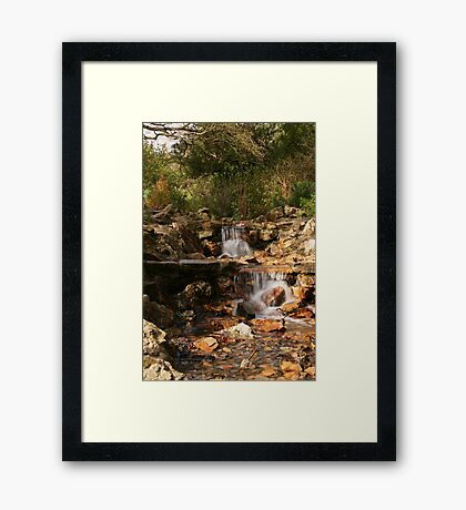 Water feature Framed Print
