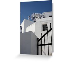 Blue On White II Greeting Card
