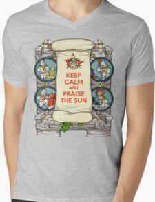 Keep Calm and Praise the Sun Mens V-Neck T-Shirt