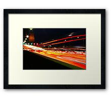 Colouring In - Re-loaded - Sydney Harbour Bridge, Australia  Framed Print